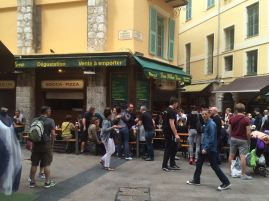 Vieux Nice..dark little eating joints that are always crowded.