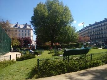 The Park in front of Église de la Sainte-Trinité, our next stop after the shut Galeries Lafayette