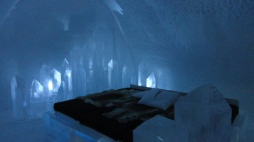 This is what a regular ice room looks like for a cold night.