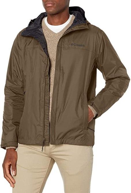 best-travel-gifts-for-men-columbia-watertight-II-front-zip-hooded-rain-jacket