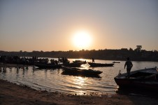 Sunset over the Ganges