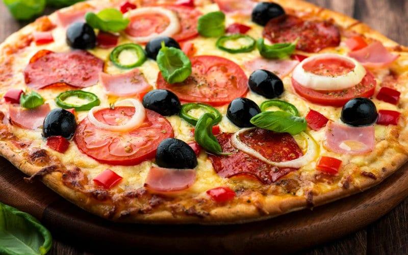 Pizza eaten in Italy
