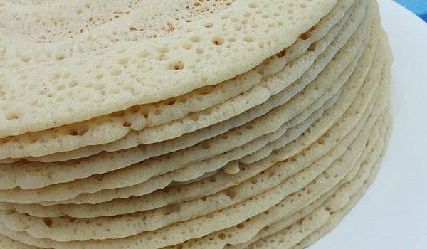 Canjeero is the famous Somalian staple breakfast dish