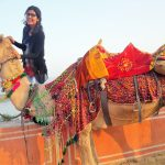 Camel Ride  near Jal Mahal