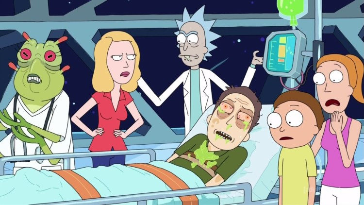 Rick-and-Morty-S02E08-Beth-Jerry-Rick-Summer-Morty-Nurse-Alien-Hospital