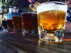 Beer Flight At Flagstaff Brewing Co