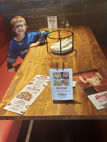 Giordanos Arizona inside - travel foodie mom