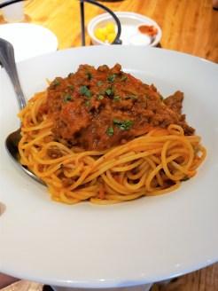 Giordanos Arizona - spaghetti with marinara - travel foodie mom