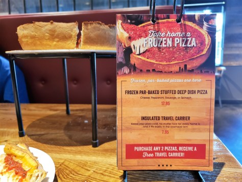 Giordanos Arizona - take home pizza - travel foodie mom