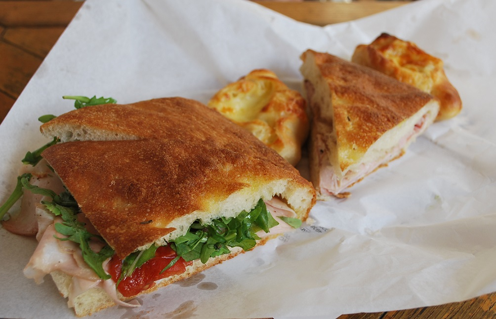 Breakfast in Thessaloniki: fresh sandwiches and pastry