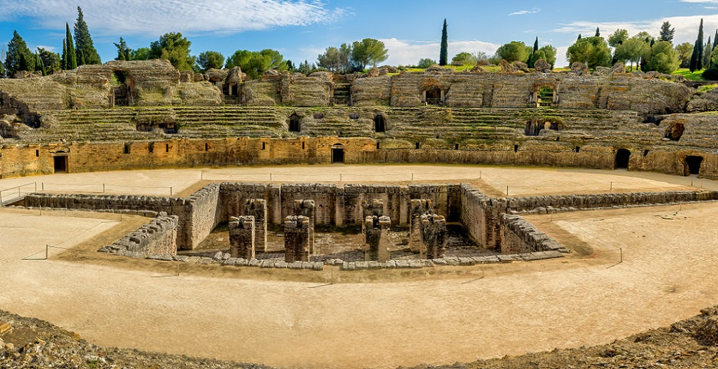 Itálica Amphitheater in Andalusia, Spain