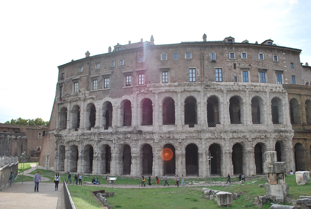 Theater of Marcellus in Rome, the oldestof all Roman Theaters still standing.