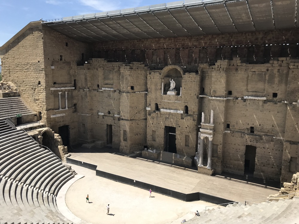 Perfectly preserved Roman Theater in Orange, France