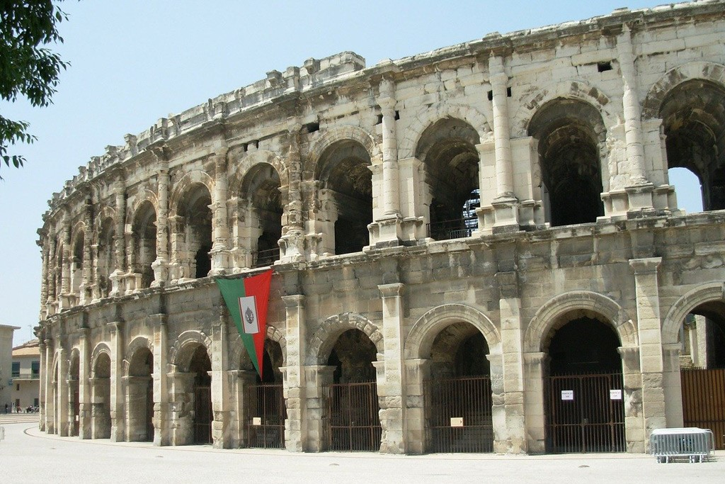 The Roman Arena in Nimes