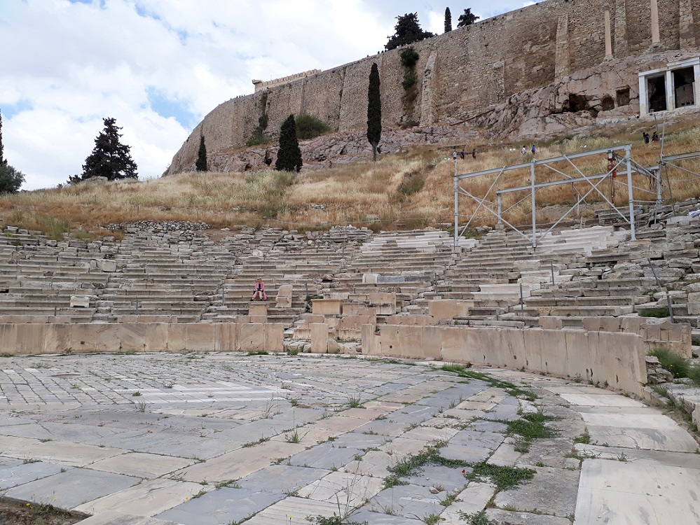 The Theater of Dionysos on the slopes of the Acropolis in Athens