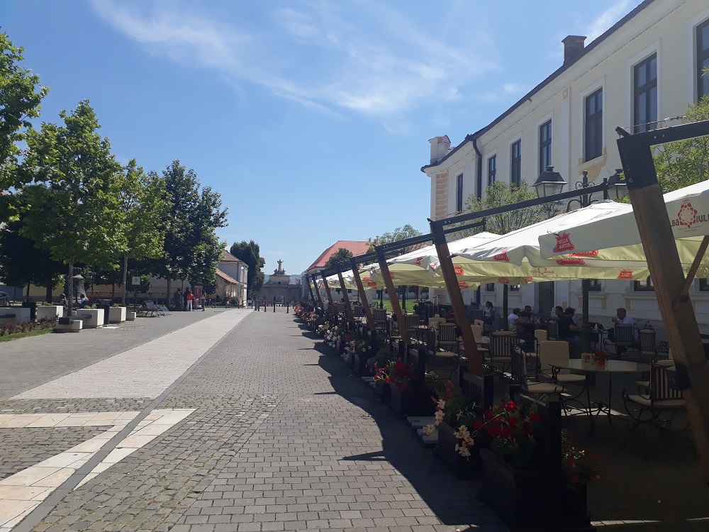 A few cafes in the citadel