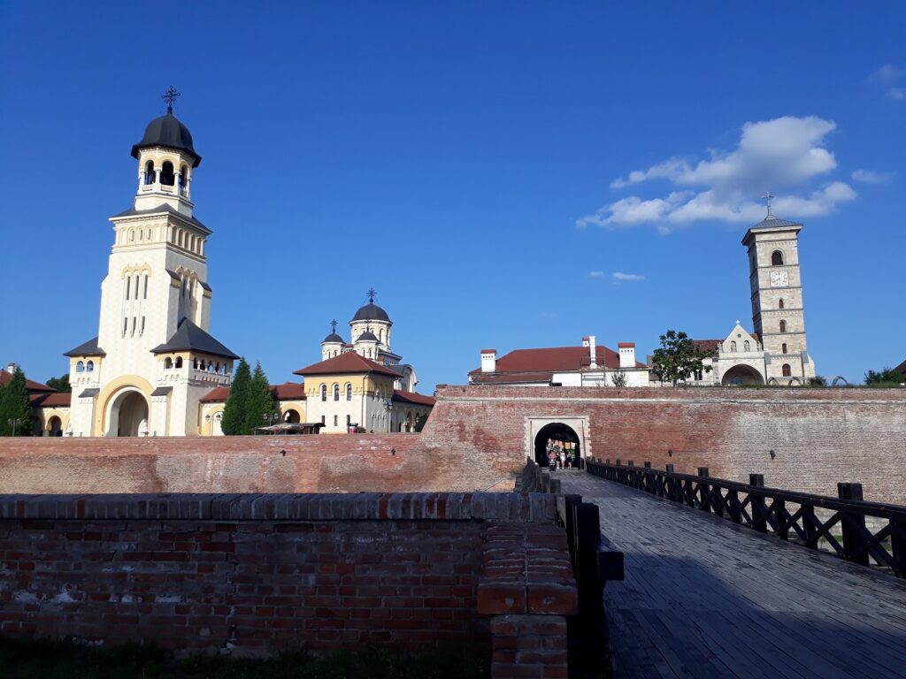 The two cathedrals from outside the citadel walls