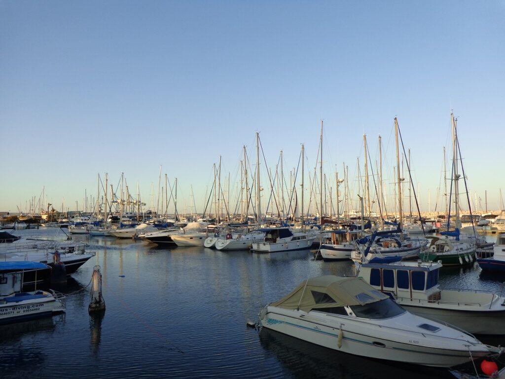 Boats in Larnaca Marina