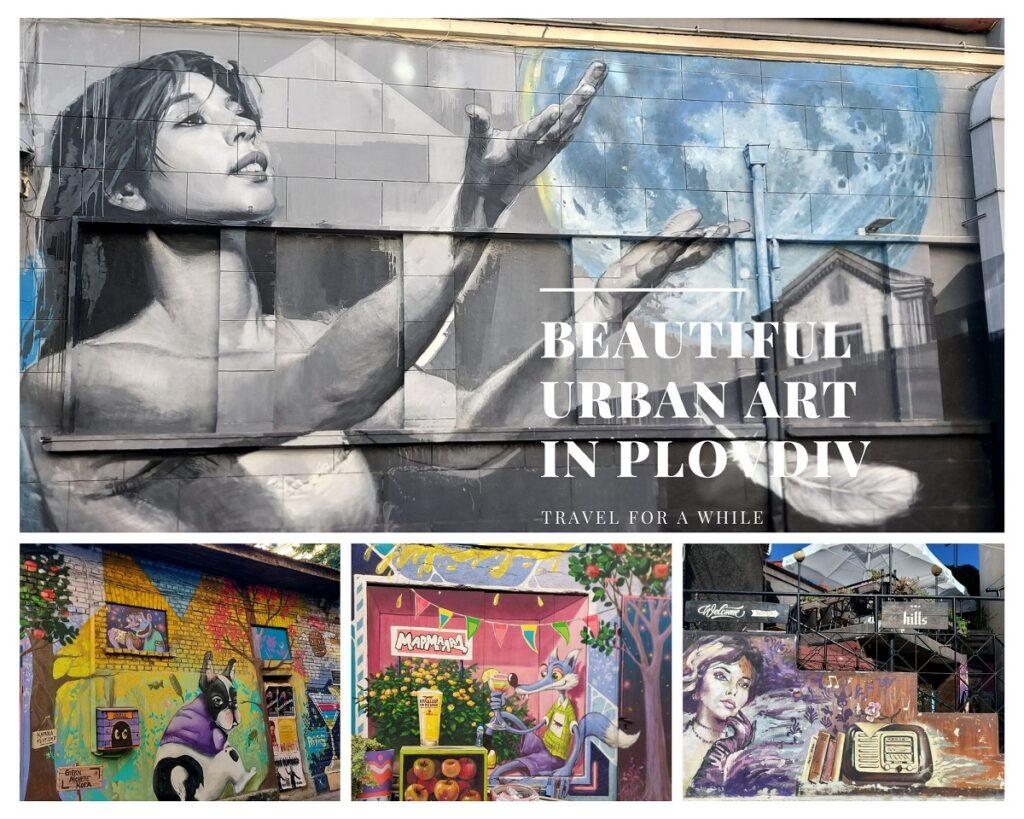 Beautiful urban art in Plovdiv, Bulgaria