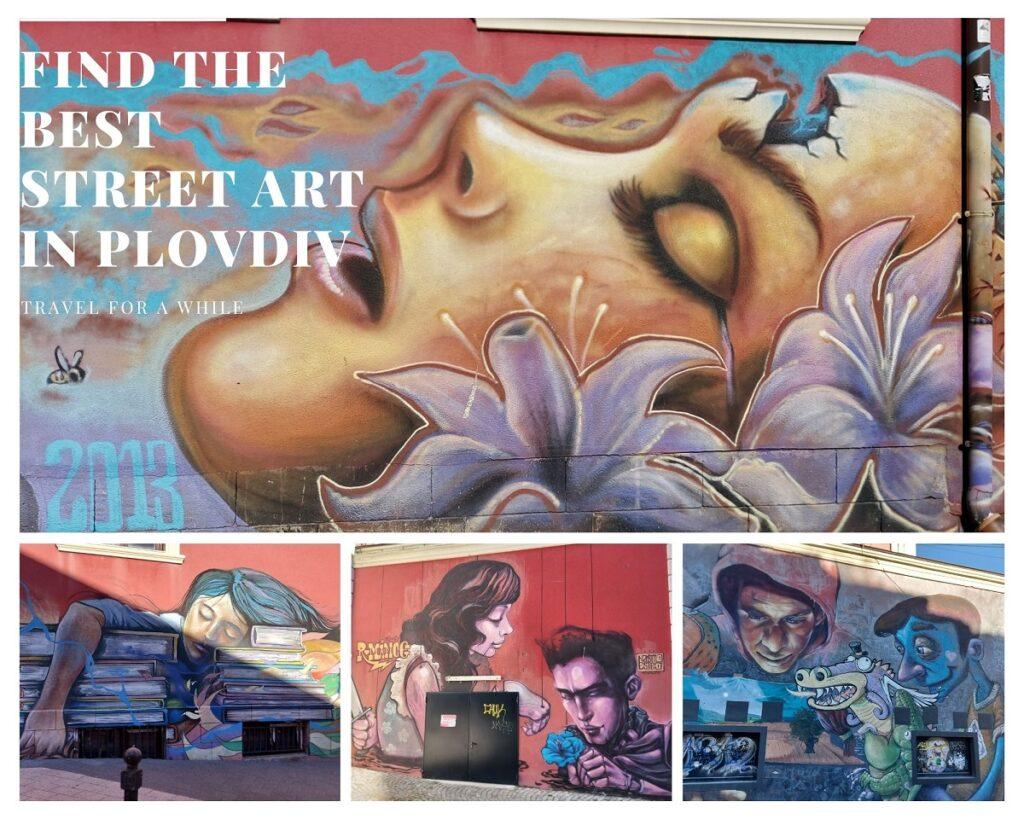 Amazing street art in Plodviv, behin the drama theater