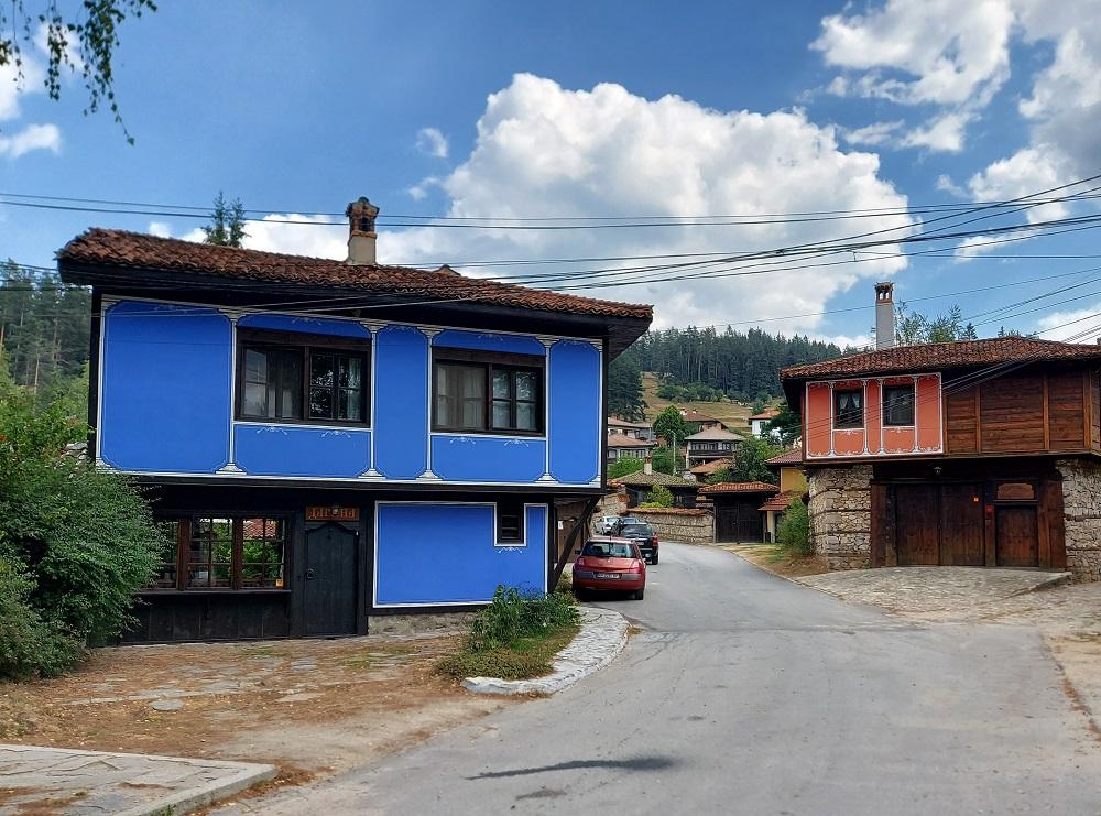 Colorful houses in Koprivshtica Bulgaria