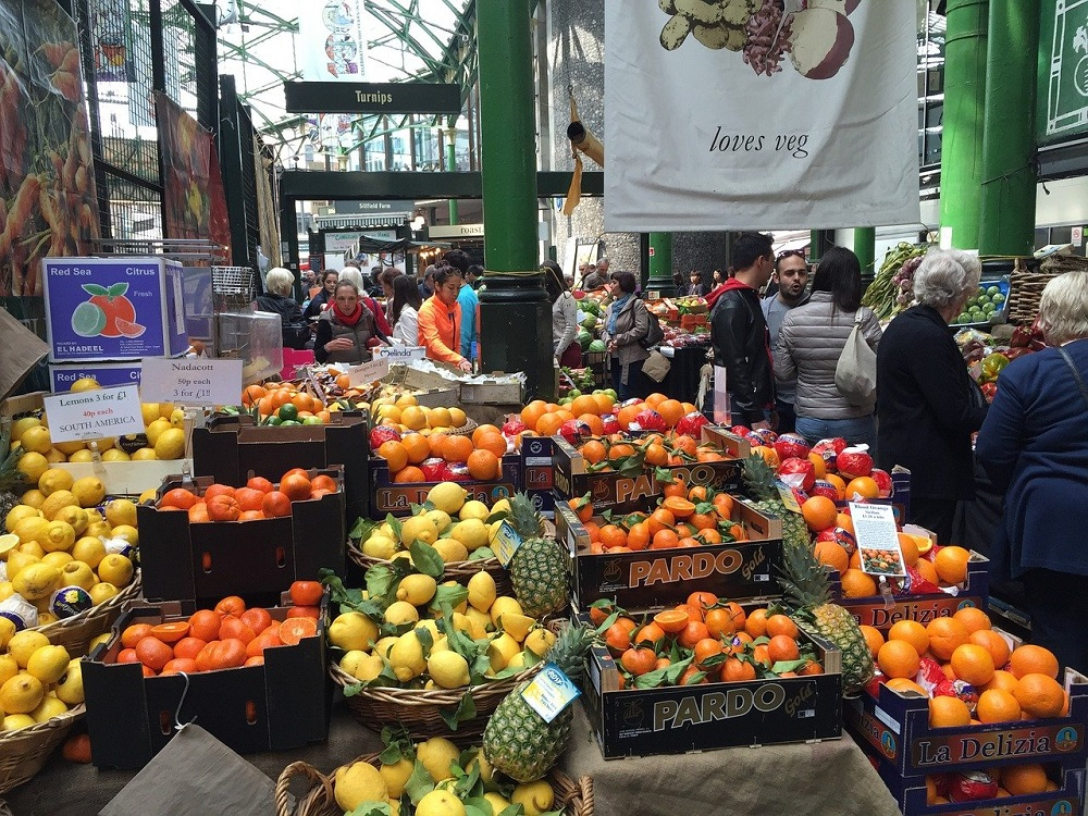 Fresh fruit and vegetables in Borough Market