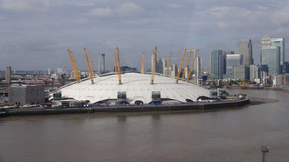 The most famous events venue in London, O2 Arena.