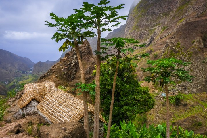 A traditional village where Cape Verdean people live