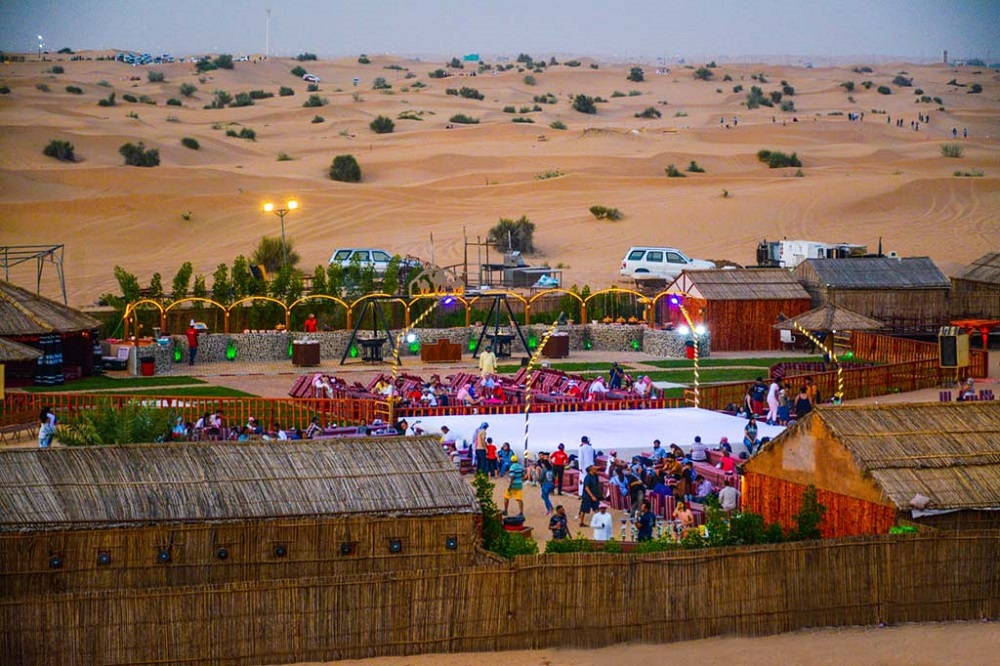 An Arabian evening in the desert