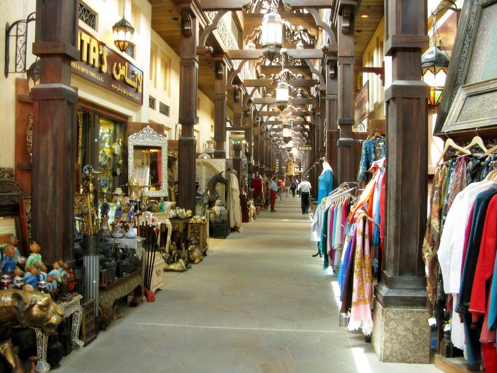 The souks are Arabian marketplaces in Dubai.