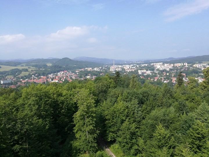 Panoramic view over Roznov pod Radhostem