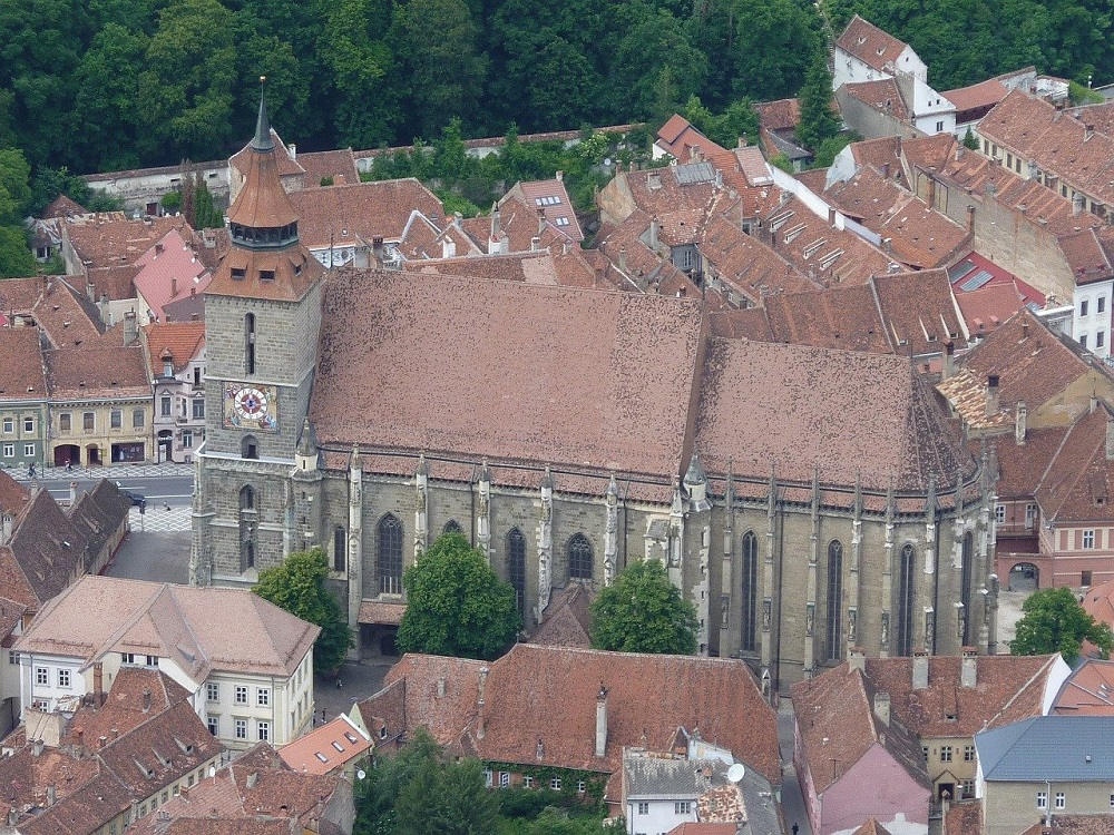 The Black Church from above.