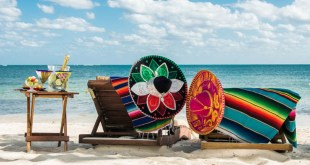 Beautiful Caribbean beach of one of the Mexican hotels and resorts ideal for foodies