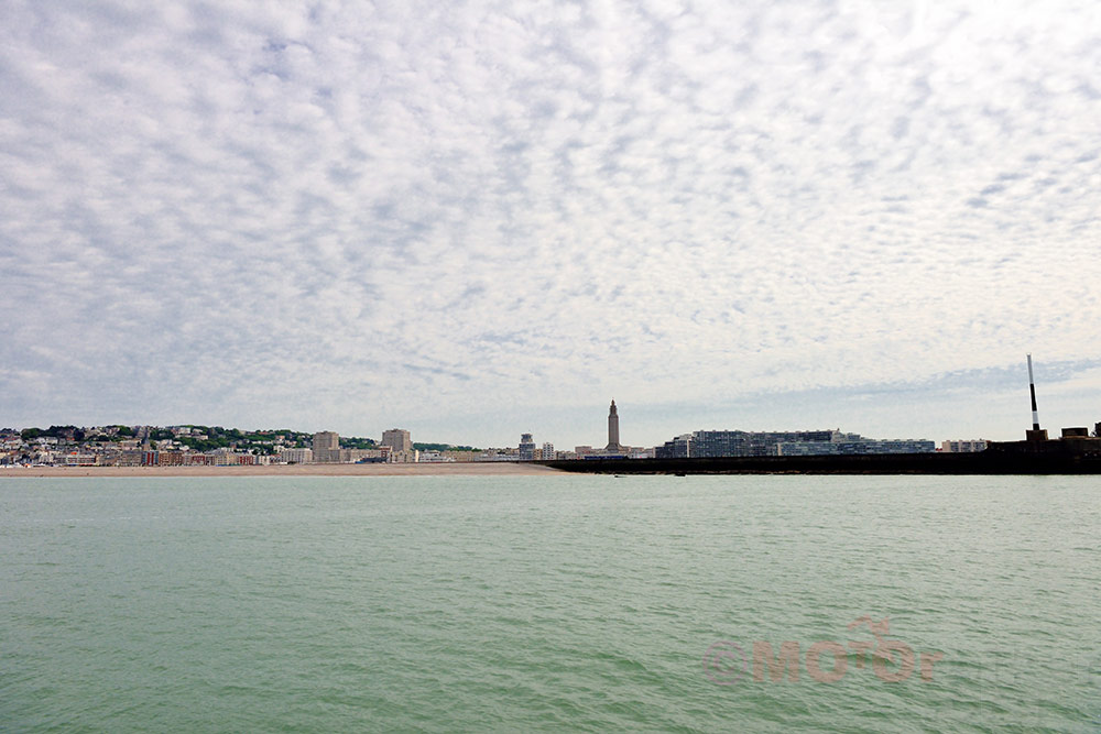 Le Havre seen from the sea