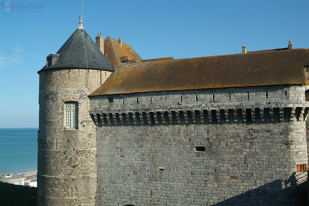 Enormous walls of the Dieppe castle