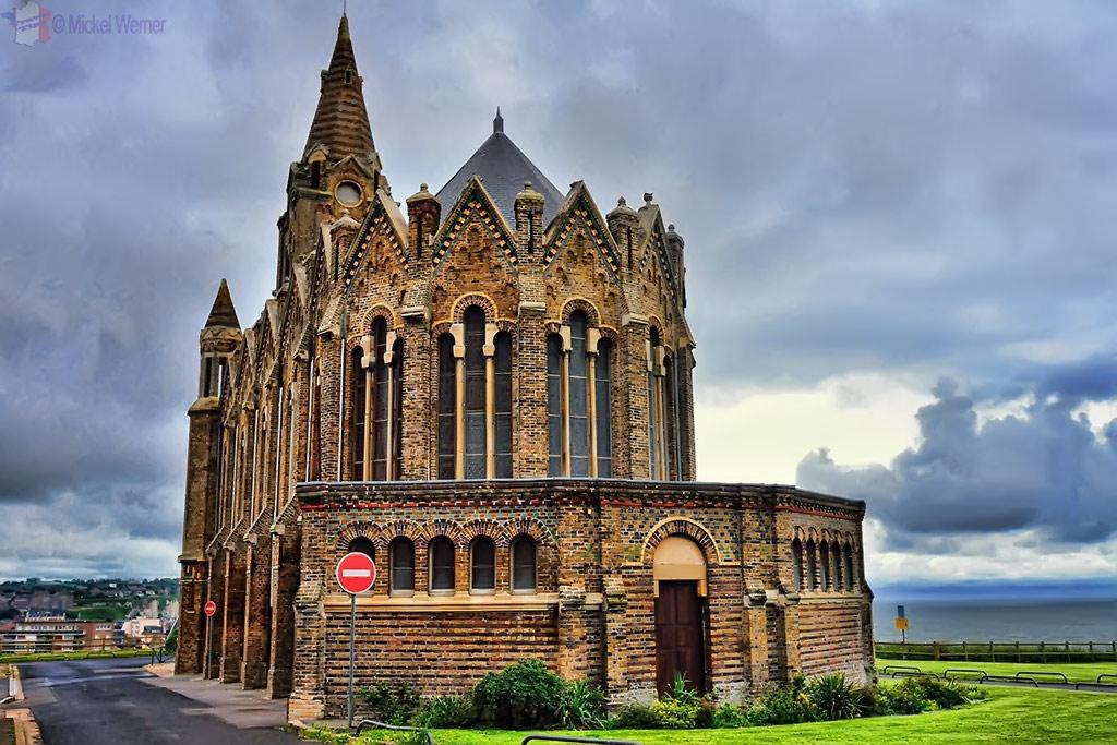 Notre-Dame-de-Bon-Secours church on the hill of Dieppe