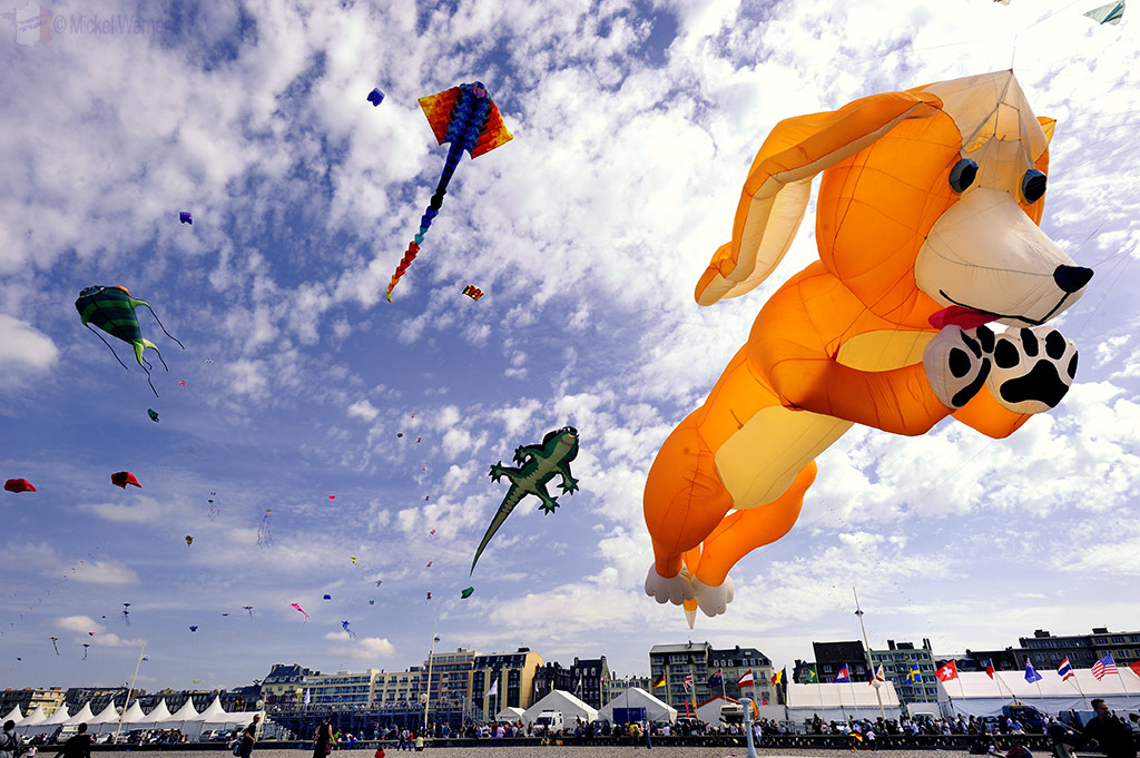 Kite flying festival of Dieppe