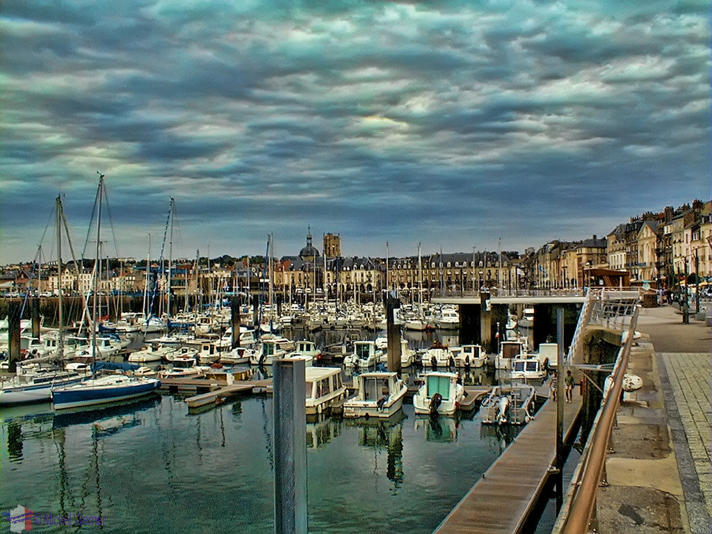 Pleasure boat marina of Dieppe