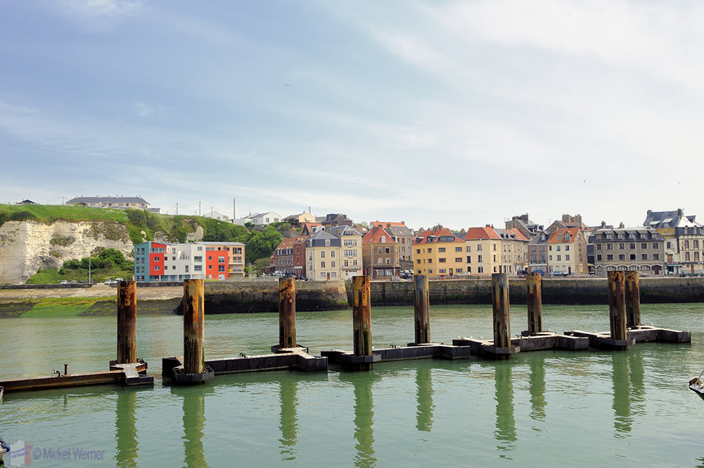 View of the Northside of the marina of Dieppe