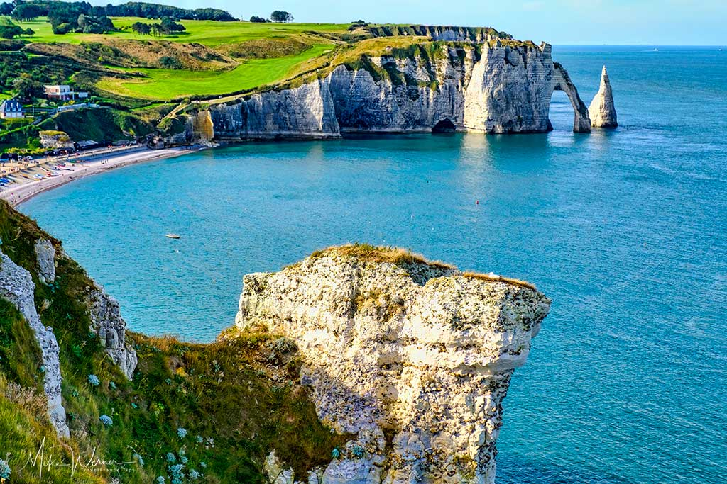 View from the chapel grounds of Etretat