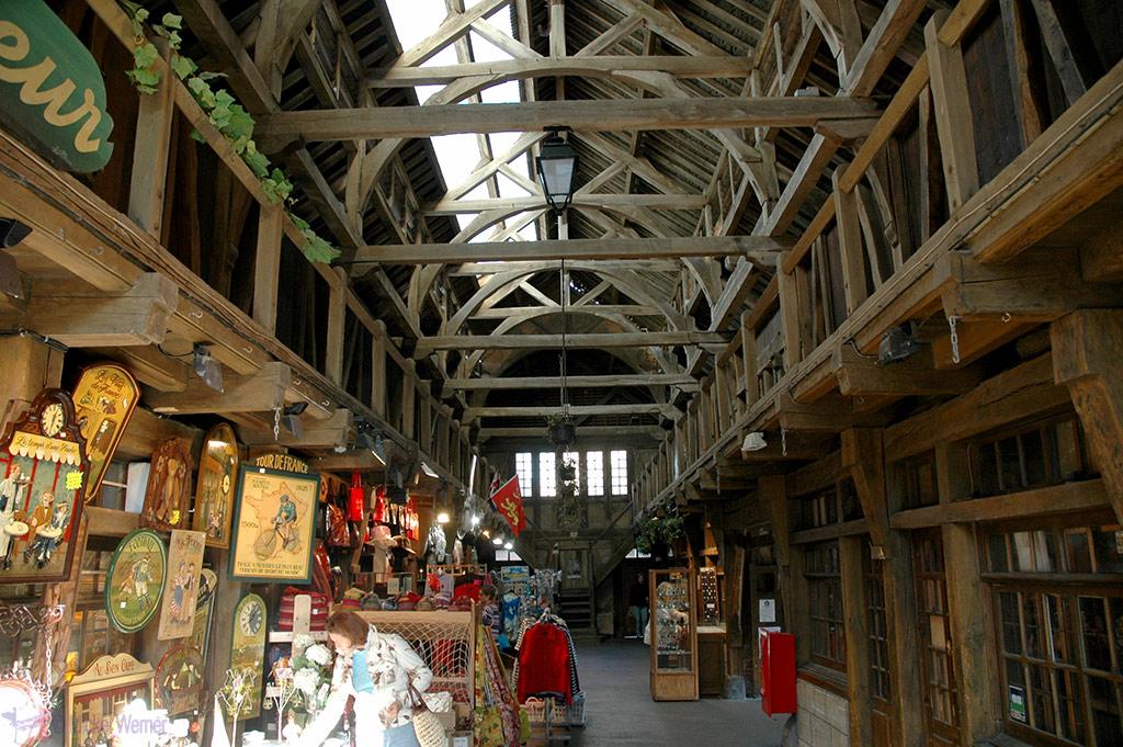 inside Etretat's Les Halles market shops