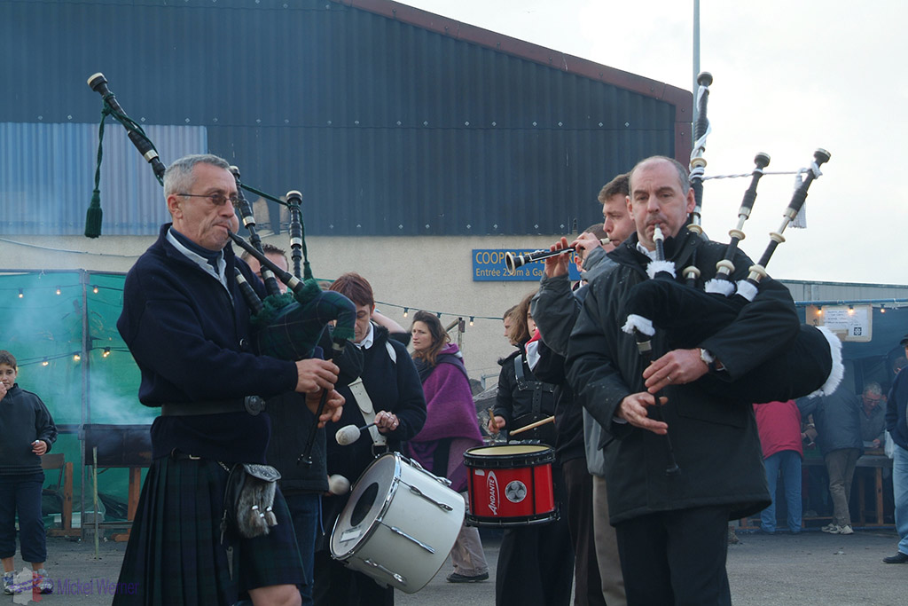 Bagpipes played at the Fecamp Herring Festival