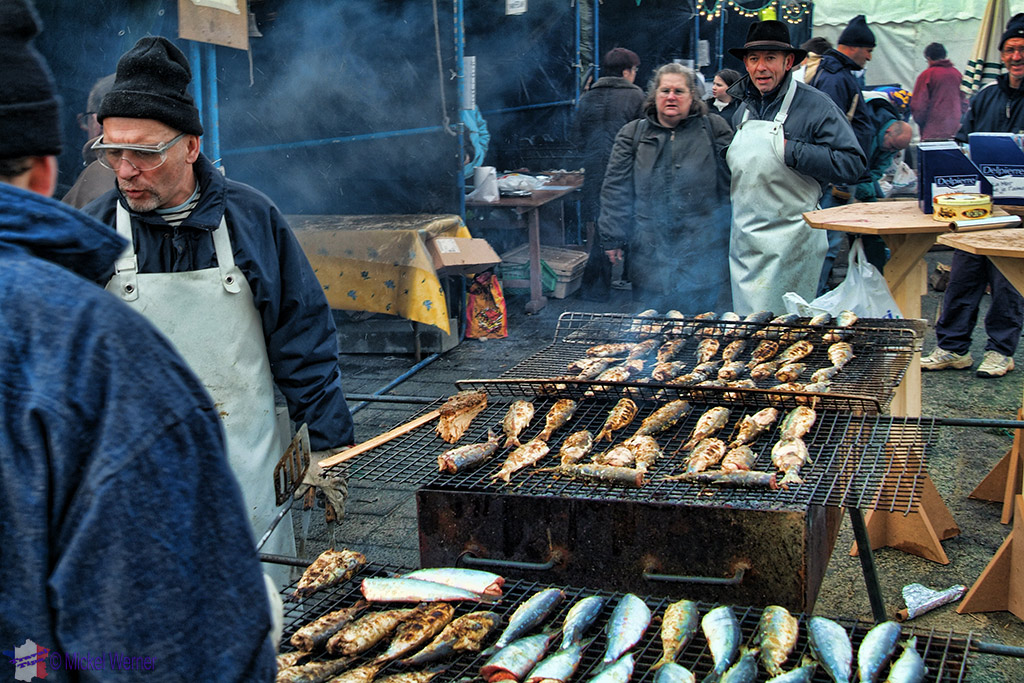 Herring smoking during the Fecamp festival