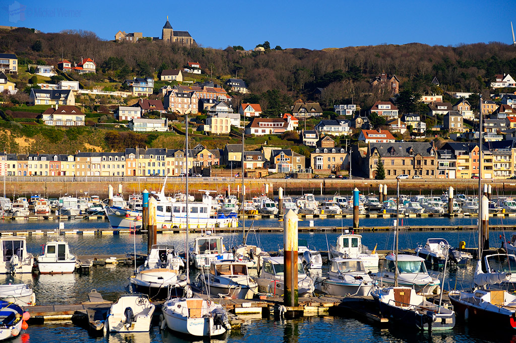 Pleasure boat marina of Fecamp