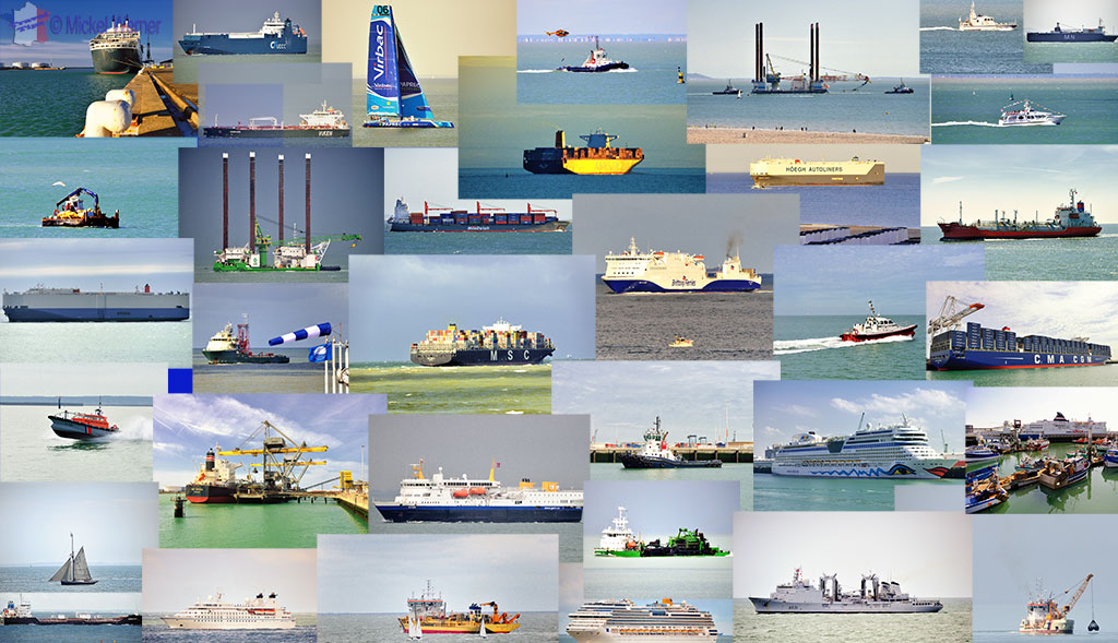All the types of ships that come to Le Havre