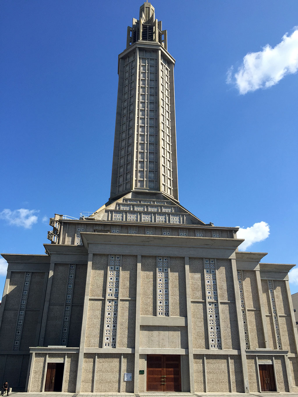 Le Havre's St. Joseph chruch with its high tower