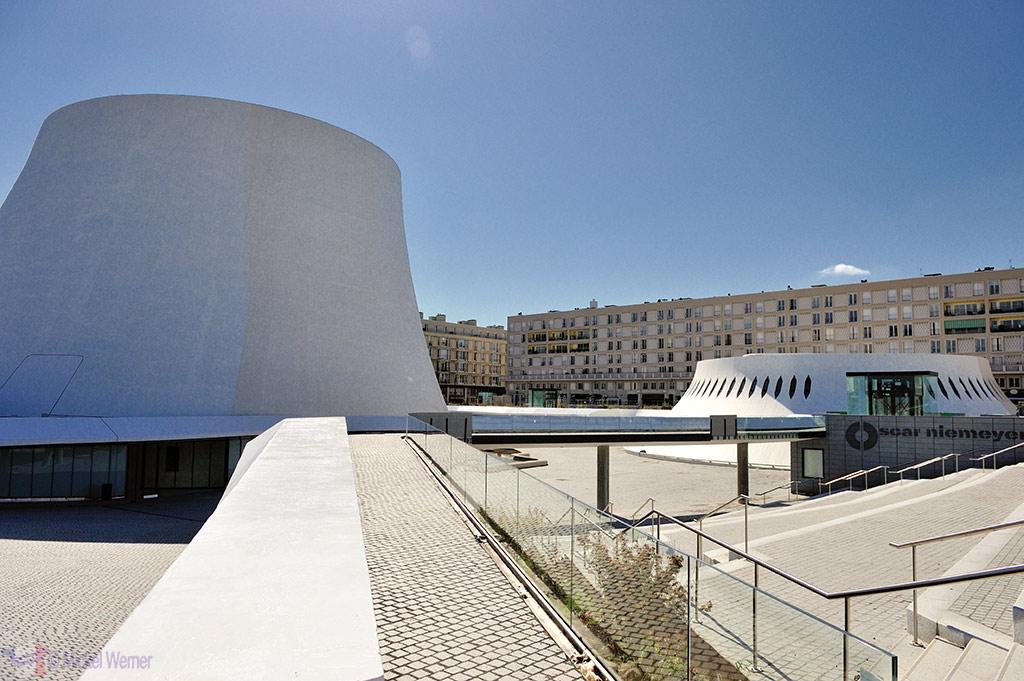 Oscar Niemeyer's concert hall, the Volcano, in Le Havre