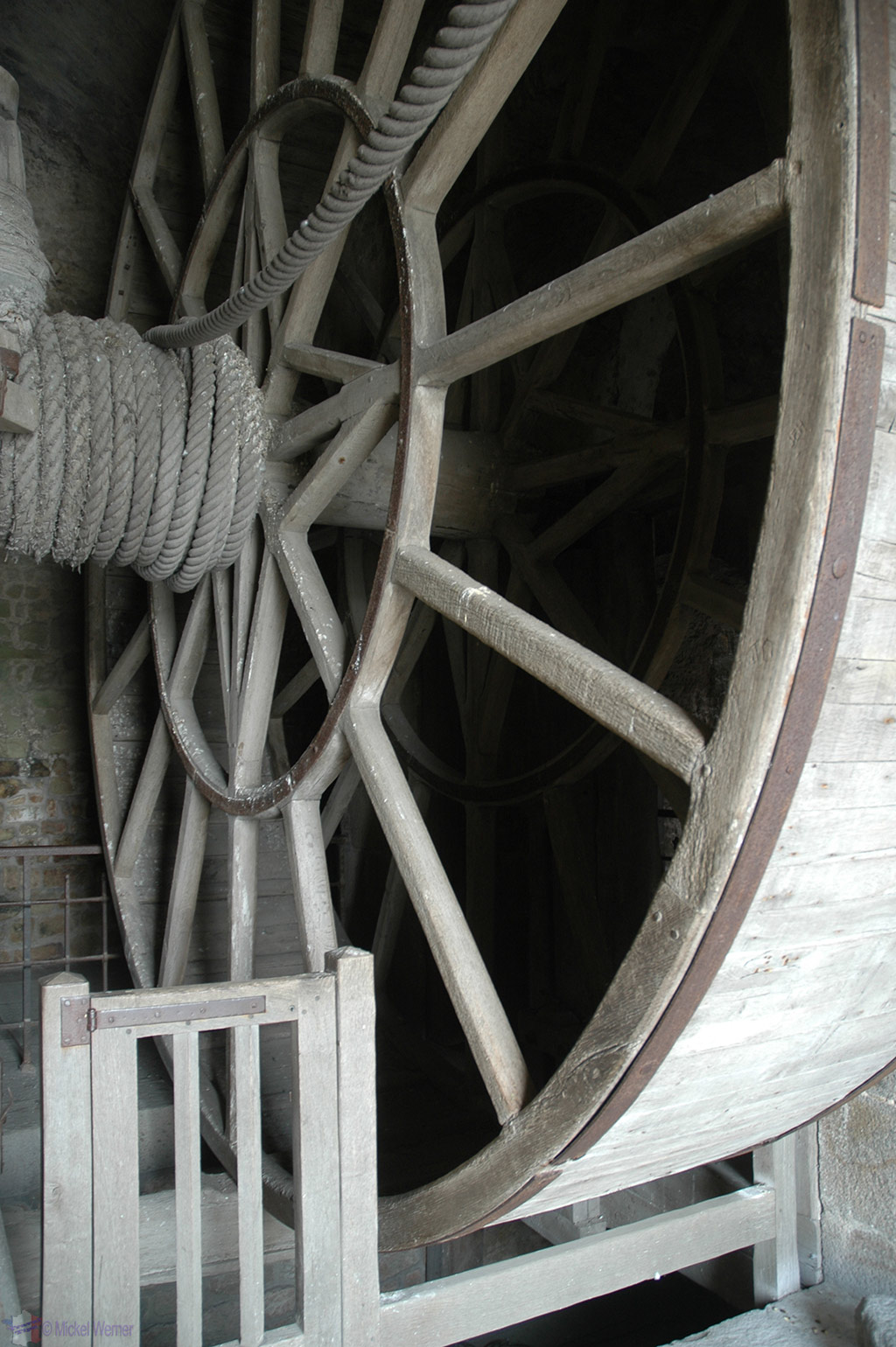 Pulley inside Mont St. Michel