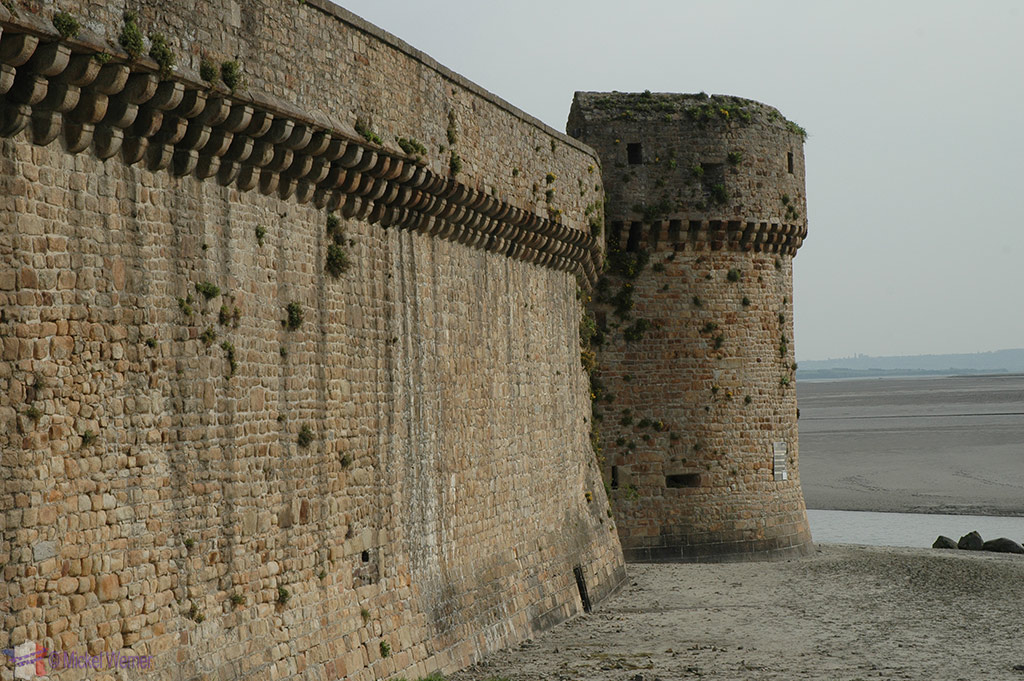 Fortified walls of Mont St Michel