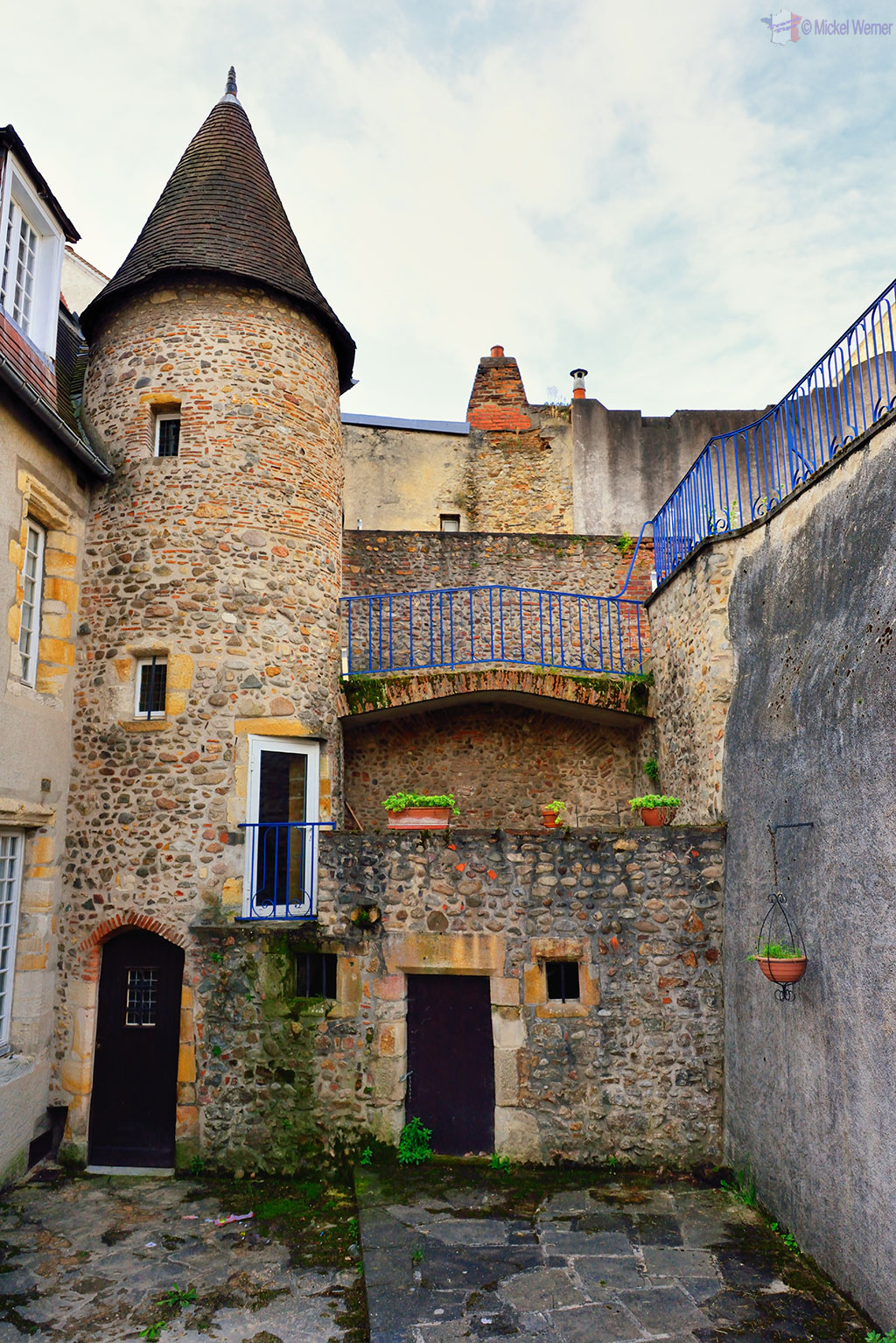 Old buildings of Montlucon city centre